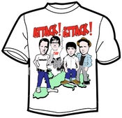 Image of Attack! Attack! Tshirt with tour dates