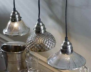 Image of Mercury Glass Pendant Lamps