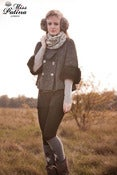 Image of Miss Patina Oversized Mix Wool Coat with Removable Fur Sleeves