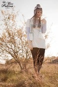 Image of Miss Patina Jacquard Knit Dress/Top with a Scarf (white)