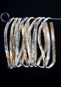 Image of Hammered Mixed Metal Bangles- as seen on E! News