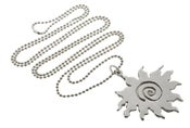 Image of SWIRLY SUN PENDANT NECKLACE