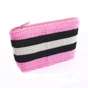 Image of Handmade Purse - Pink Liquorice Lolly