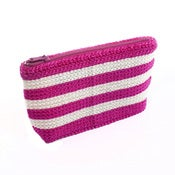 Image of Handmade Purse – Magenta & Cream