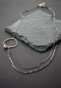 Image of Asymmetrical Diamond Necklace
