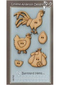 Image of Barnyard Hens button pack