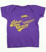 Image of Baby's Plum Crazy Dodge Challenger Muscle Car T-Shirt