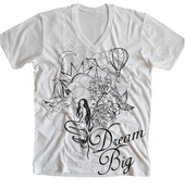 Image of Dream Big V-Neck White