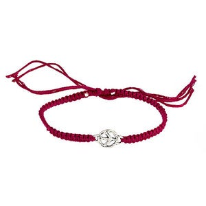 Image of Silver Peace Link Friendship Bracelet