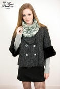 Image of Miss Patina Snowflake and Elk Pattern Funnel Snood