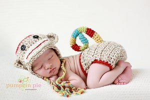 Image of Twist Up Sock Monkey Set