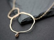 Image of Organic Chocolate Diamond Necklace
