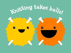 Image of Knitting Takes Balls T-shirt (Men's / Unisex)