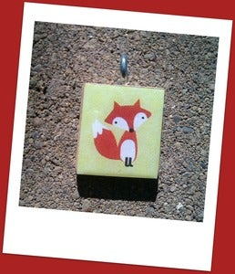 Image of Foxy Scrabble Tile Pendant