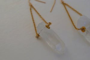 Image of Mali Rough Quartz Drop Earrings