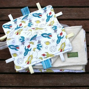 Image of (SOLD OUT) ORGANIC Circa 50 Rockets Blanket &amp; Blankie Set