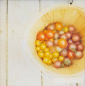 Image of Bucket of Tomatoes :: Polaroid Print