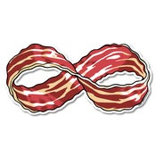 Image of Infinite Bacon sticker 3 pack