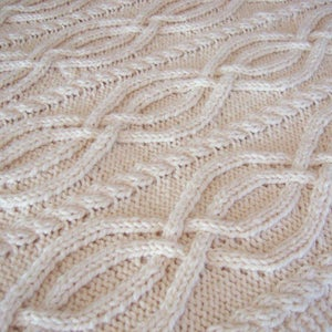 Image of Super Cozy Aran Cable Throw Blanket