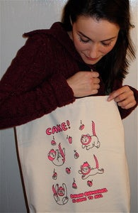Image of &quot;Cake!&quot; Tote-bag