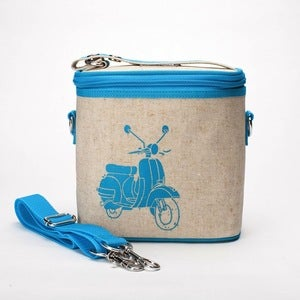 Image of So Young Mother Cooler Bag - Turquoise Scooter
