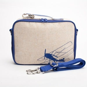 Image of So Young Mother Lunch Box - Blue Airplane