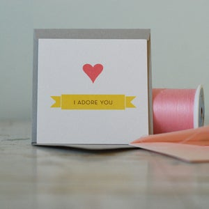 Image of Mini Card - I Adore You