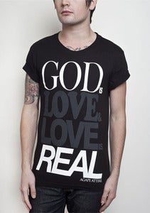"Image of ""God is Love"" Black shirt"