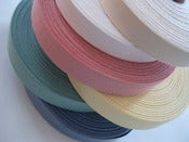Image of Twill Tape - Coloured (per metre) Now avail. in Navy & Red also