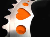 Image of Orange hearts - Silver chainring