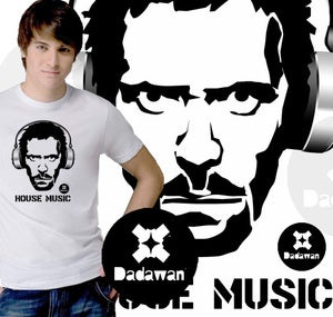 Image of T-shirt House Music stencil style by Dadawan