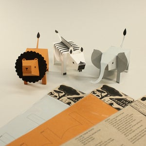 Image of Paper animals: LION ZEBRA ELEPHANT (Limited Edition) # 2