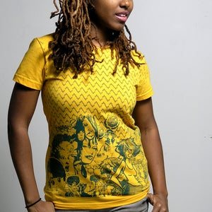 Image of DREAM DEFERRED TEE  yellow