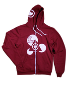 Image of Cranberry Zip Up Hoodie
