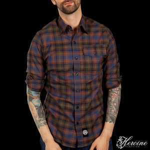 Image of Diamond Cut Brown/Blue/Black Flannel