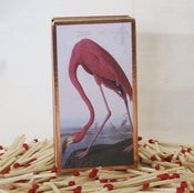 Image of Audubon's Bird Matchbox, Flamingo, Heron, Pelican and more...