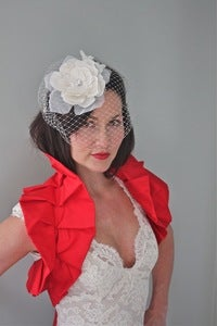 Image of Amelia - Red Shoulder Bridal Wrap