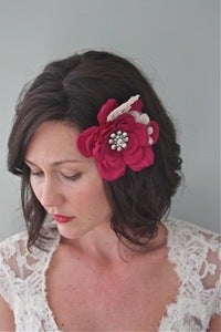 Image of Hope - Handmade Vintage Brooch Silk Flower Headpiece