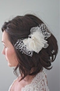 Image of Lottie - Vintage and Alencon Lace Bridal Headpiece