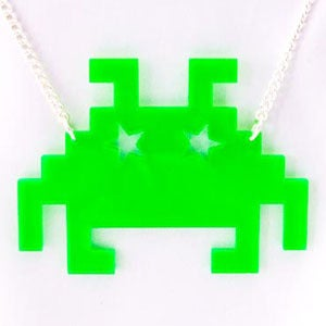 Image of Space Invader Necklace