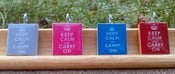 Image of Keep Calm and Carry On Scrabble Tile Pendant