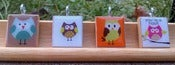 Image of Adorable Owls Scrabble Tile Pendants