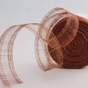 "Image of Manila Mesh Ribbon/Amber, 1.5"" wide, per 5 yards"