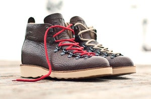 Image of FNG x Fracap M120 Classics Boot - Brown (Red &amp; Rope laces)