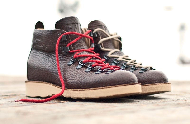 Image of FNG x Fracap M120 'Classics' Boot - Brown (Red & Rope laces)
