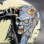 Image of Z is for Zombie - hand colored print