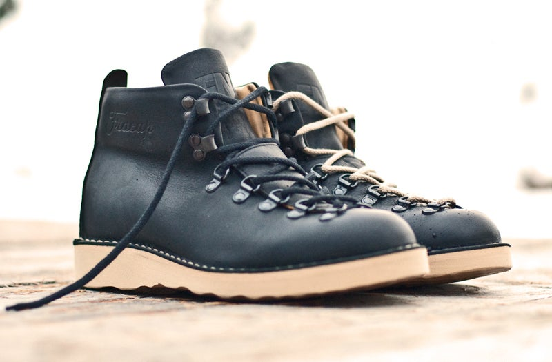 Image of FNG x Fracap M120 'Classics' Boot - Black (Black & Rope laces)