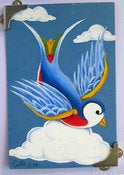 Image of Bluebird original paintings by Cilla North (chief inker at Original Skin)