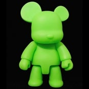 Image of Qee Neon Bear Green 8&quot; DIY GID