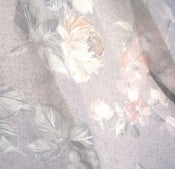 Image of Vintage Fabric Grey Floral Dress